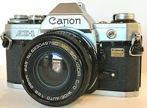 CANON AE1 reflex film + OBIETTIVO SOLIGOR C/D WIDE AUTO FD 28 mm  1:2,8