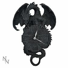 Protector of Time Dragon Wall Clock 38cm Gothic Nemesis Now