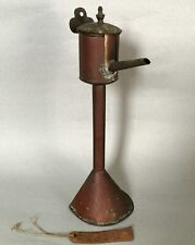 Unusual Antique Hand Made Copper & Brass Betty Lamp Whale Oil Lamp