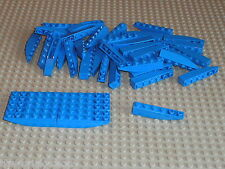 Lot 50 blue slope bricks ref 500 LEGO /  X50 pcs / MOC gare / train stations ...