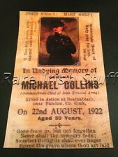 Michael Collins In Full Military Uniform -1922 Ireland Memorial Card Irish Print