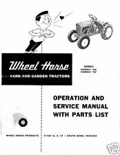 Wheel Horse Suburban Operation,Service & Parts Manual Models 400 & 550