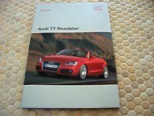 AUDI OFFICIAL TT ROADSTER PRESS KIT BROCHURE CD NEW MODEL 2008 USA EDITION