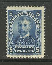 Newfoundland # 85, 1899 5c Duke of York - Royal Family Issue, Unused Hinged