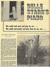 Belle Starr's Piano + History & Genealogy