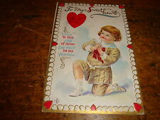 Vintage Valentine Postcard To My Sweetheart Child On Bended Knee