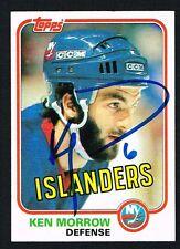 Ken Morrow signed autograph auto 1981-82 Topps Hockey Trading Card