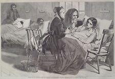 Hospital Blackwell's Island New York 1868 Harper's Weekly Print