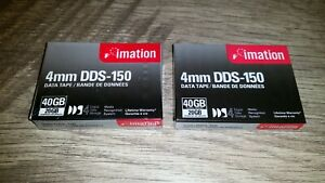 TWO Brand New Imation 4mm DDS-150 Data Tape - 40GB Compressed/20GB Uncompressed