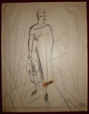 Gondouin Emmanuel dessin fusain sur papier art abstraction surréalisme cubisme