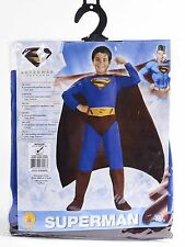 NEW CHILDRENS SIZE 5-7 SUPERMAN DC COMIC FANCY DRESS COSTUME SUPERHERO KIDS
