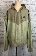 VTG retro Nike Air Men's Hooded plaid prepp zip up windbreaker jacket coat  Sz L