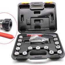 7/16 Spring Collet Chuck MT3 M12+ 15PCS ER32 ER Collet Chuck Set 3-20mm+Spanner