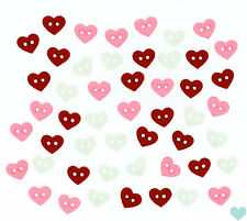 Dress it Up 7mm Micro Valentines Hearts Buttons 8102 - Doll House Dolls Small