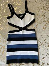 BCBG DRESS SIZE M BLUE/BLACK