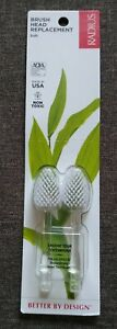 2 Radius Brush Head Replacement Pack Soft Non Toxic Bio-Plastic