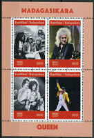 Madagascar 2019 CTO Queen Freddie Mercury 4v M/S Music Famous People Stamps