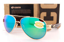 c685815b59 New Costa Del Mar Sunglasses LORETO Rose Gold Tortoise Green Mirror 580P  Polar