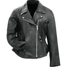 Women's Leather Biker Jacket - Thick Heavy Weight - Classic Motorcycle Style