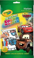 Crayola Colour Wonder (Color Wonder) Mini Colouring Book & Markers - Disney Cars