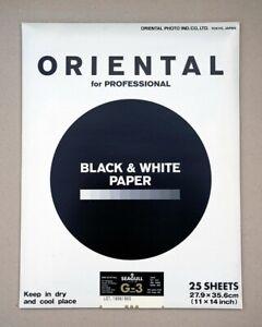 Oriental Seagull Black & White Fibre Based Paper 11x14 ins (25 Sheets).