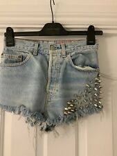 Levi Up cycled Vintage Studded Shorts Size 28w