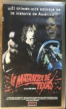Texas Chainsaw Massacre VHS - Horror - Spanish Import PAL NOT NTSC - Rare!
