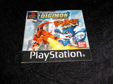 notice du jeu DIGIMON RUMBLE ARENA   PLAYSTATION PS1
