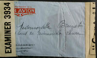 France French 1940's? Cover Airmail Examiner 3934 FM Paris