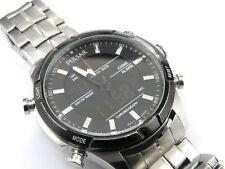 Mens Blue Steel SEIKO Lorus Chrono Sports Watch Z021-X004 - 100m