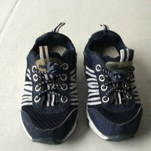 Tecs Blue Bungie Closure Soft Shoe Infant Size 6