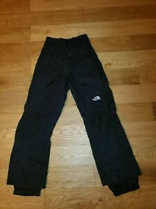 NORTH FACE HYVENT WATERPROOF SKI PANTS Lined Black MEN Small