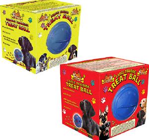 "DOG TREAT BALL - (5"" / 6"" inch) - Lazy Bones Treats Dispenser Play Toy dm Feeder"