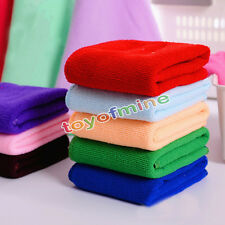 10xMulti-Color Soft Soothing water absorption Cotton Clean Wash Cloth Hand Towel