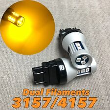 Front Turn Signal Parking AMBER SMD LED Bulb T25 3057 3157 4157 SRCK W1 LGM A