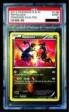 PSA 9 MINT Shiny Rayquaza Dragons Exalted 128/124 Pokemon Card Gold Star Cards