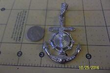 Large Anchor Cross Jesus Christ Pendant ~ Sterling  Silver .925