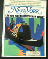 New York Magazine Can New York Become the Next Venice? Joe Namath July 19 1971