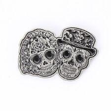 Biker Chopper Sugar Skull Couple Day Of The Dead Pin Anstecker Anstecknadel NEU