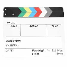 Generic Acrylic Colorful Clapperboard TV Film Movie Slate Cut Role Play Pro G4B9