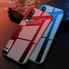 Glass Phone Case Dirt Resistant Anti Knock Glossy Plain Gradient Tempered Cover