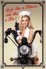 Biker Nurse Pin Up Motiv 1 Blechschild Schild gewölbt Metal Tin Sign 20 x 30 cm