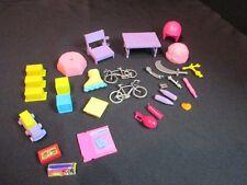 Vintage Mixed Lot 29 Pc Barbie Disney Miniature Toys Furniture Misc Accessories
