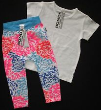 Girls Toddler BONDS Outfit Two Piece Leggings Tshirt Top Pants Floral Size 2 NEW