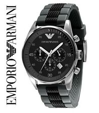 EMPORIO ARMANI AR5866 MENS CHRONOGRAPH WATCH | BLACK & GREY - BNIB WITH TAGS