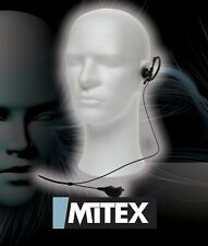 MITEX G SHAPE EARPIECE WITH MIC & PTT - FOR ALL MITEX HANDHELD TWO WAY RADIOS