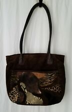 Leather Suede Great American Leatherworks Patchwork Slouch Tote Hobo Purse Bag
