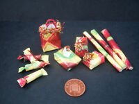 Handmade 1/12th scale dolls house miniature CHRISTMAS GIFT SETS - various