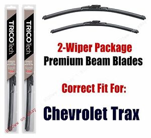 Wipers 2-Pack Premium Beam Wiper Blades fits 2013+ Chevrolet Trax - 19260/130