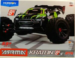 ARRMA 1/5 KRATON 4X4 8S BLX Brushless Speed Monster Truck RTR, Green ARA110002T1